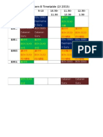 Sem 8 Timetable