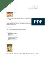 amanda shuler annotated bibliography