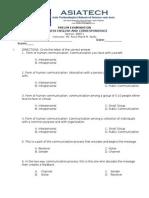 Business English & Correspondence PRELIM EXAMINATION