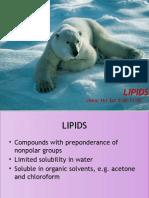 Lipids Biochemistry