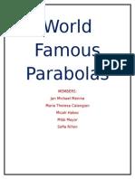 Famous Parabolas