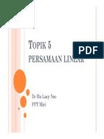 Topik 5 Persamaan Linear