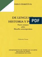 De lenguaje, historia y poder