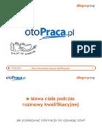 otoPraca - Mowa Ciala Na Rozmowie Kwalifikacyjnej