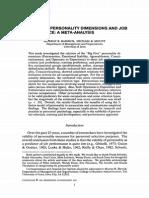 Meta Pers Job Perform BARRICK_et_al-1991-Personnel_Psychology