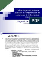 Subiecte Pentru Proba de Evaluare a Competenţelor