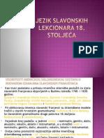 Jezik Slavonskih Lekcionara 18 St.