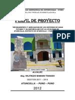 PERFIL PY MEJORAMIENTO Y AMPLIACION AGUA Y DESAGUE ATUNCOLLA COMPLETO.pdf
