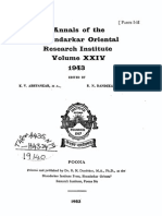 Annals of the Bhandarkar Oriental Research Society Vol. 24, 1943, parts 1-2