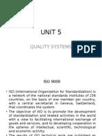 TQM Unit - 5