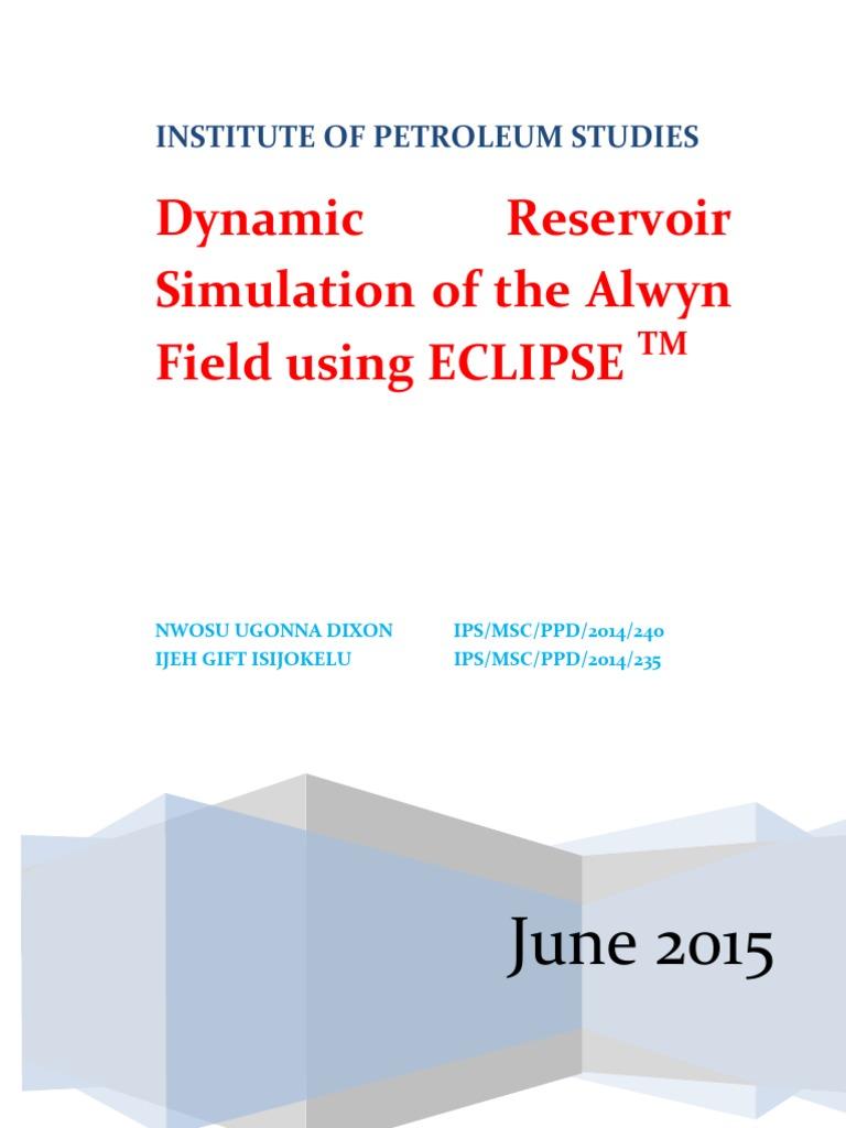dynamic reservoir simulation of the alwyn field using eclipse rh scribd com Lunar Eclipse Animation Solar and Lunar Eclipse Simulation