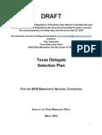 2016 Texas Delegate Selection Plan (DRAFT)