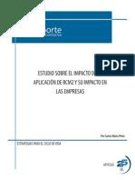 Estudio sobre el impacto de la aplicación de RCM2 y su impacto en las empresas