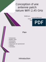 Conception d'Une Antenne Patch Miniature WIFI 2,45 GHz