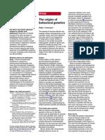 Curs 22.10.14 Genetica The Origin of Behavioural genetics.pdf