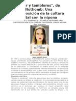 Estupor y Temblores- Amelie Nothomb Algo de Análisis