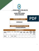 PROGRAMA DE CONTABILIDAD V, UAPA