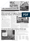 Historic Irvington Newsletter - 2015 Summer