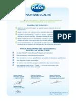 Politique Qualité 2013 FR