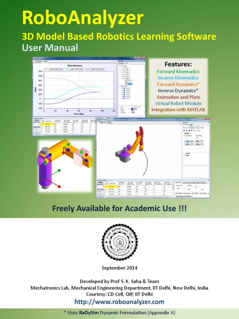 Robo Analyzer User Manual | Kinematics | Acceleration
