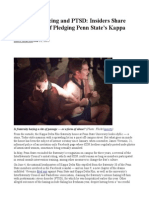 Fraternity Hazing and PTSD- Insiders Share Gory Details of Pledging Penn State's Kappa Delta Rho