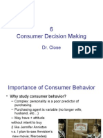 Chapter 6 Consumer Decision Making