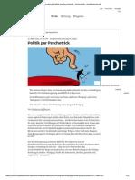 Nudging_ Politik Per Psychotrick - Wirtschaft - Süddeutsche