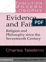 Evidence and Faith_Religion and Philosophy Since the 17th Century