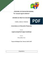 Informe de jornada de práctica docente 1