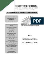 Ley Reformatoria Al Código Civil