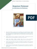 Astrologia Medieval - O Centiloquium de Ptolomeu - Os Cem Aforismos de Ptolomeu.pdf