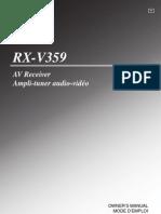Yamaha RX-V359 Manual