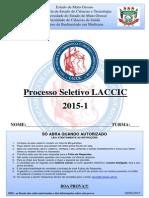 GABARITO - PROVA LACCIC - PROCESSO SELETIVO 2015.pdf