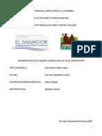 Informe de Cierre de Bodega San Juan Tepezontes La Paz