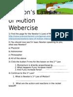 law of motion webercise