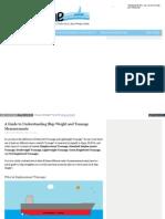 Www Themaritimesite Com a Guide to Understanding Ship Weight