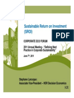 Sustainable Return on Investment