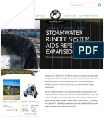 stormwater runoff system aids refinery expansion - rain for rent (1)