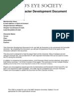 Character Development Document