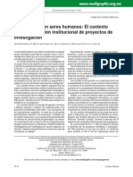 Investigación en Seres Humanos_ El Contexto Ético y La Revisión Institucional de Proyectos de Investigación