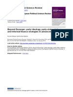 Beyond Duverger- Party Ideology, Party-state Relations and Informal Finance Strategies
