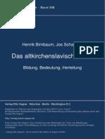 Das Altkirchenslavische Wort - Birnbaum & Schaeken (i)