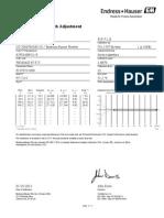 Flow Calibration Certificate
