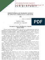 Pavel, Prof Dr Constant In - Crestinismul Si Filosofia Antica in Gandirea Fer Augustin II [ST, 3, 1990]