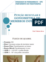 Avaliação Da Função e Goniometria Dos MMII