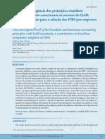 Nivel de Convergencia Dos Principios Contabeis Brasileiros e Norte-Americanos as Normas Do IASB