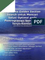 Algoritma Golden Section Search