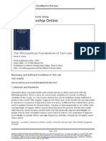 Necessary and Sufficient Conditions in Tort Law