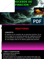 tipo de Reactores de la industria petroquimica