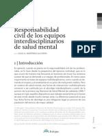 Responsabilidad Civil de Los Equipos Interdisciplinarios de Salud Mental